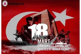 Çanakkale Zaferi nin 105. Yıl Dönümünde, Gazi Mustafa Kemal Atatürk ü Ve Şehitlerimizi Saygıyla Ve Minnetle Anıyoruz.