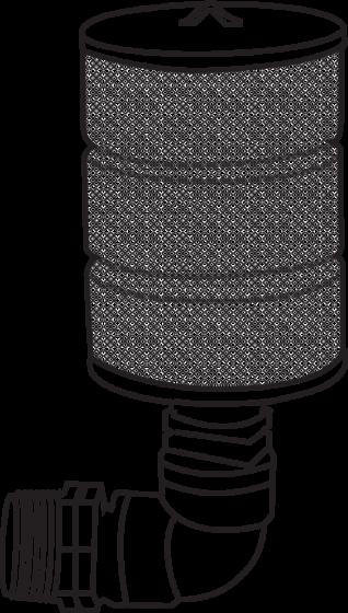 Emiş filtresi (rakorlu çıkış)